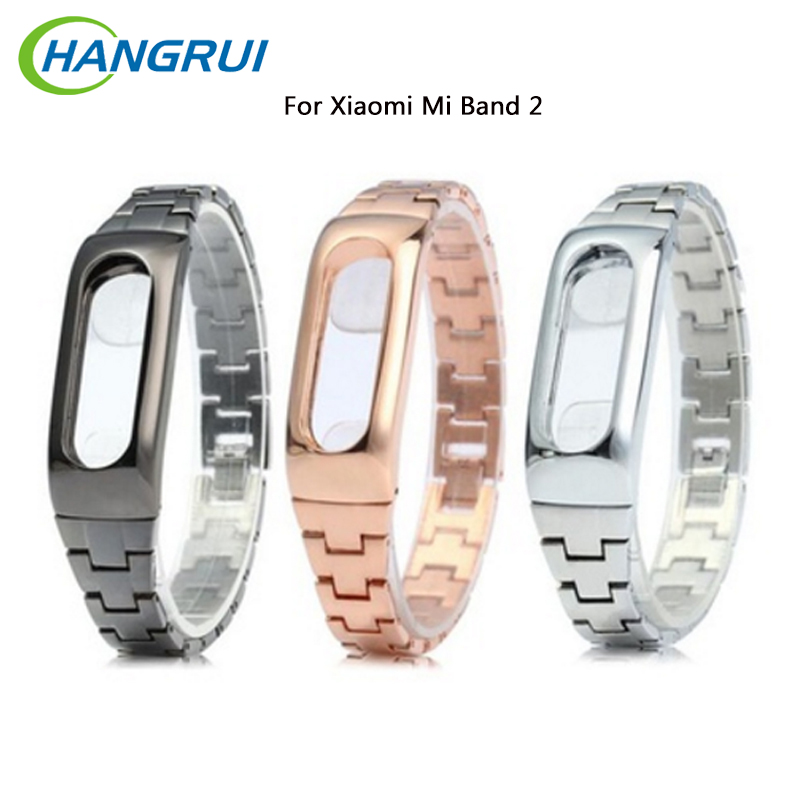 Original Stainless steel Strap For Xiaomi Mi Band 2 belt Smart WristBand Bracelet for Xiaomi Band 2 fitness tracker smart band
