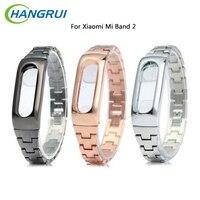 Original Stainless steel Strap For Xiaomi Mi Band 2 belt Smart WristBand Bracelet for Xiaomi Band 2 fitness tracker smart band