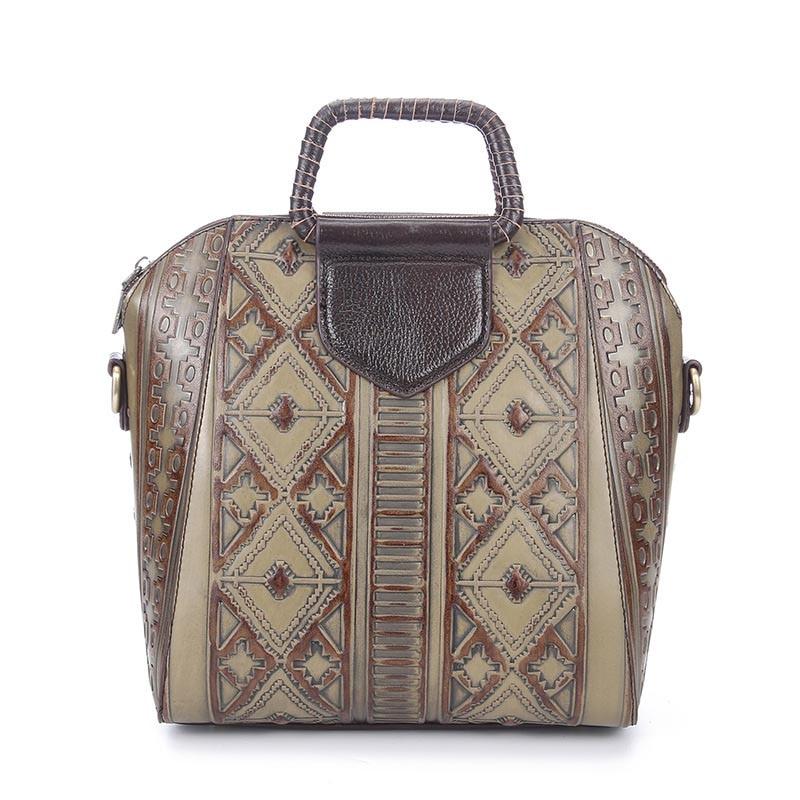 New Genuine Leather Embossing Brush Color Floral Elegant Ladies Bags Fashion Luxury Handbags Shoulder Bags For Women LS8822 genuine leather 3d embossing dragon