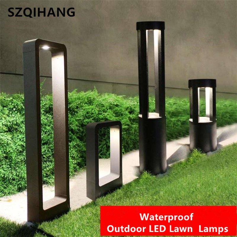 LED Landscape Garden Light Outdoor Waterproof for Lawn Decoration Yard Christmas Pathway Villa Garden Lighting Bollards Lamps