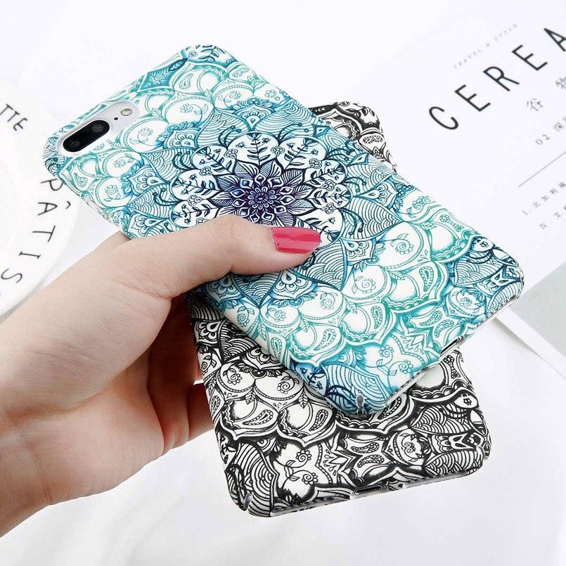 Luminous Mandala Print Case for iPhone 2