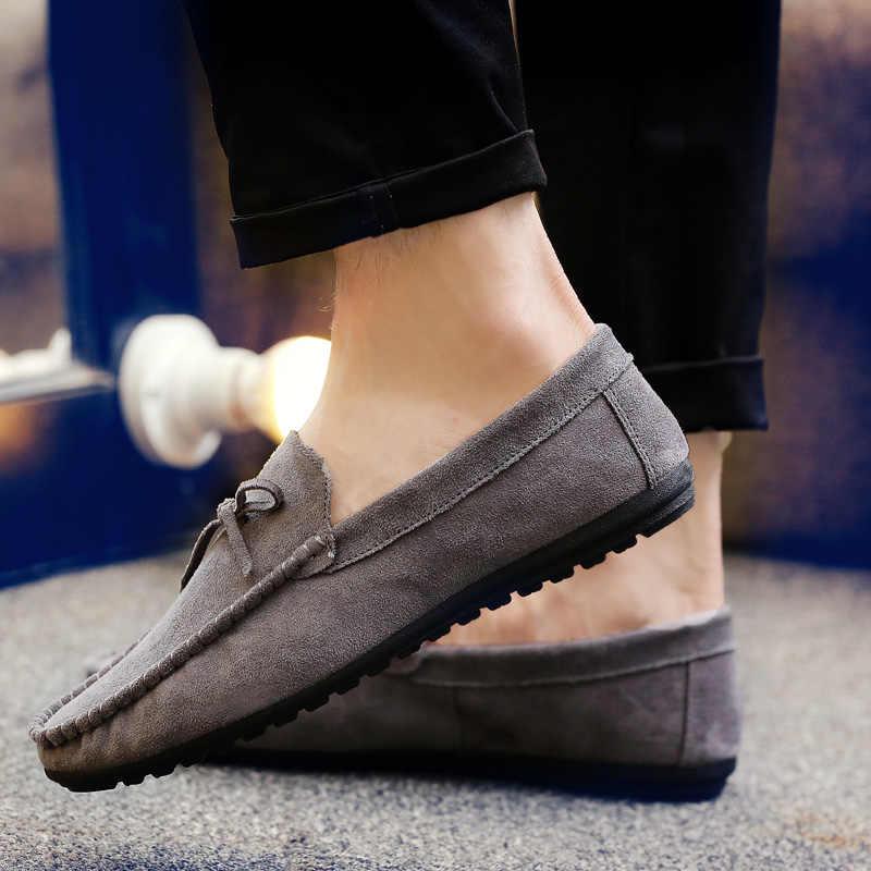 Mode Peas Schoenen Mannen Zomer Casual Loafers Mannen 2019 Ademend Mocassins Mannelijke Jeugd Trend Licht Flats Sneaker Mannelijke HC-061