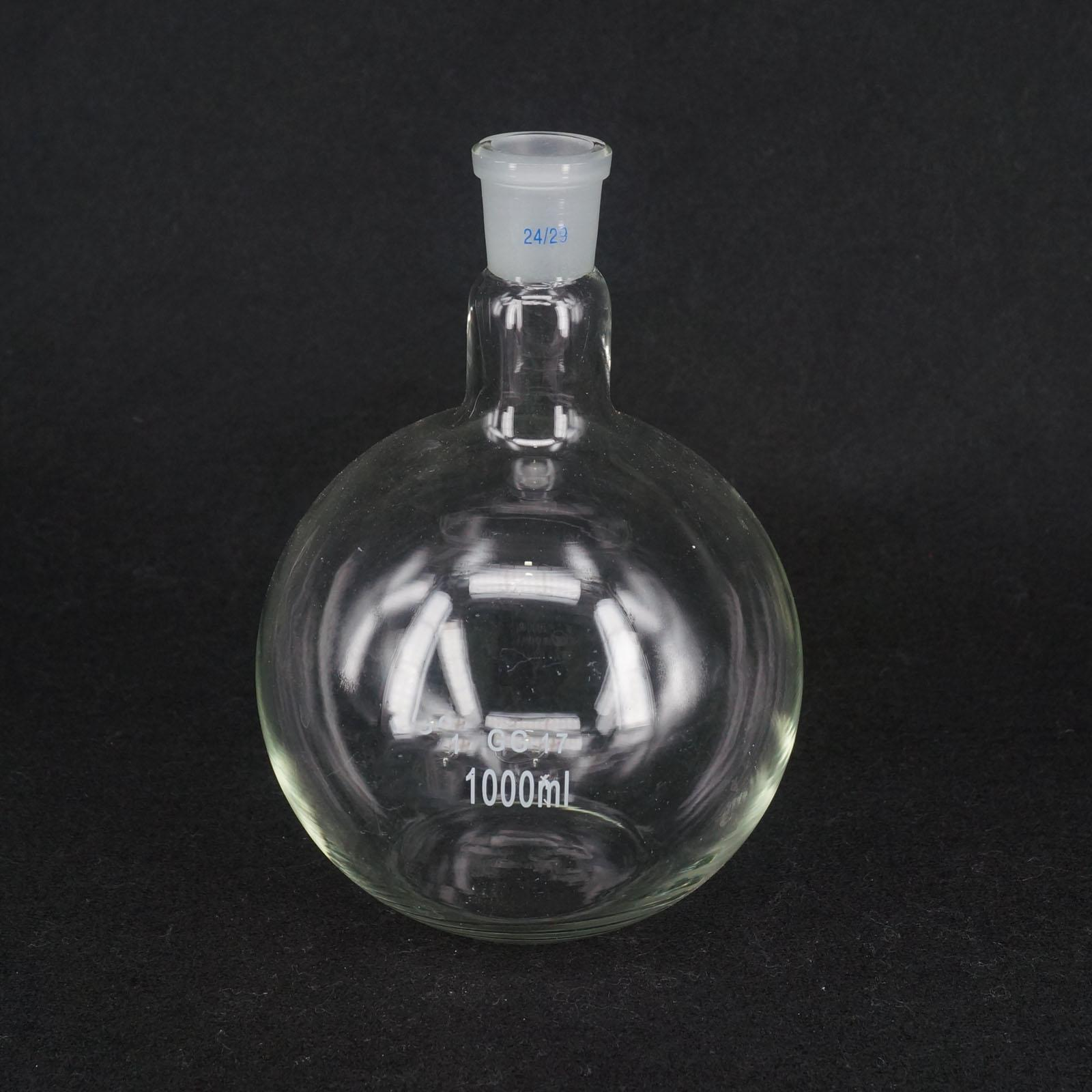 1000ML 24/29 One Mouth Short Neck Flat Bottom Flask Boiling Flask For Laboratory