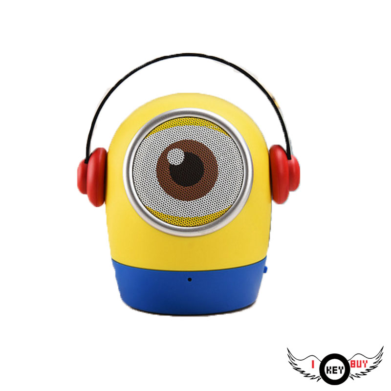 I Key Buy Creative Mini Yellow Cartoon Bluetooth Speakers Radio Mobile Computer Outdoor U Disk TF Card Subwoofer Small Audio image