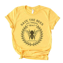 bees graphic t shirts vintage korean clothes plus size gothic tee harajuku 90s womens clothing funny animal o-neck casual недорого