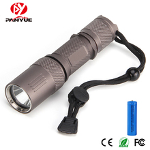 PANYUE Portable Mini 800LM LED Flashlight Torch Pocket Light Waterproof Lantern 18650 Battery Powerful Led For Hunting