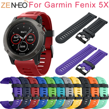 Replacement Silicagel Soft Bands for Garmin Fenix 5X Band Bracelet for Garmin Fenix 3/Fenix 3HR Replacement Smart Watch Strap цена