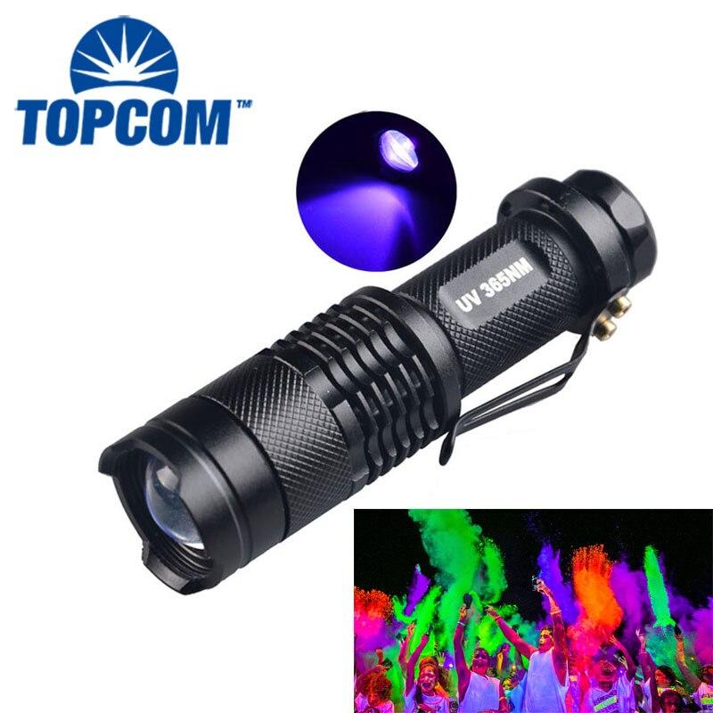 [Free Ship] 365nm 395nm Purple Light White Light Mini UV Flashlight Fingerprint detection Cosmetic Fluorescence Detection
