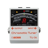Boss TU 3S Chromatic Tuner Pedal Compact Guitar and Bass Tuner Pedal with 21 segment LED Meter, Drop Tuning Support