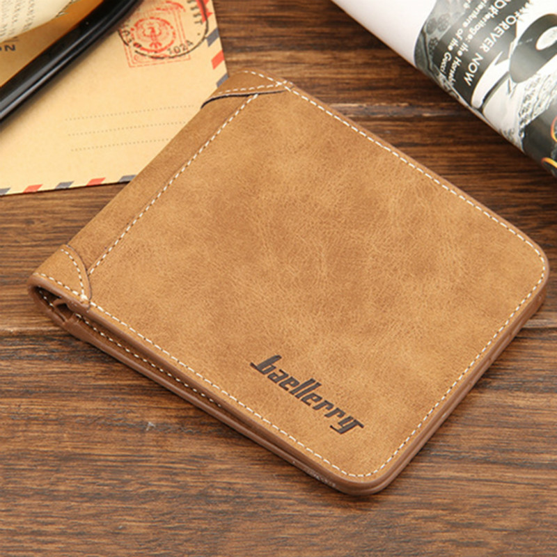Baellerry 2017 Soft Leather Wallet Men Vintage Style Famous Brand Men Wallets Leather Purse Male Credit Card Holder Money Bag