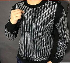 Image 2 - Pullover Oversized Men Autumn Winter 2019 Sweatshirt  Hip hop diamond design  HJ98