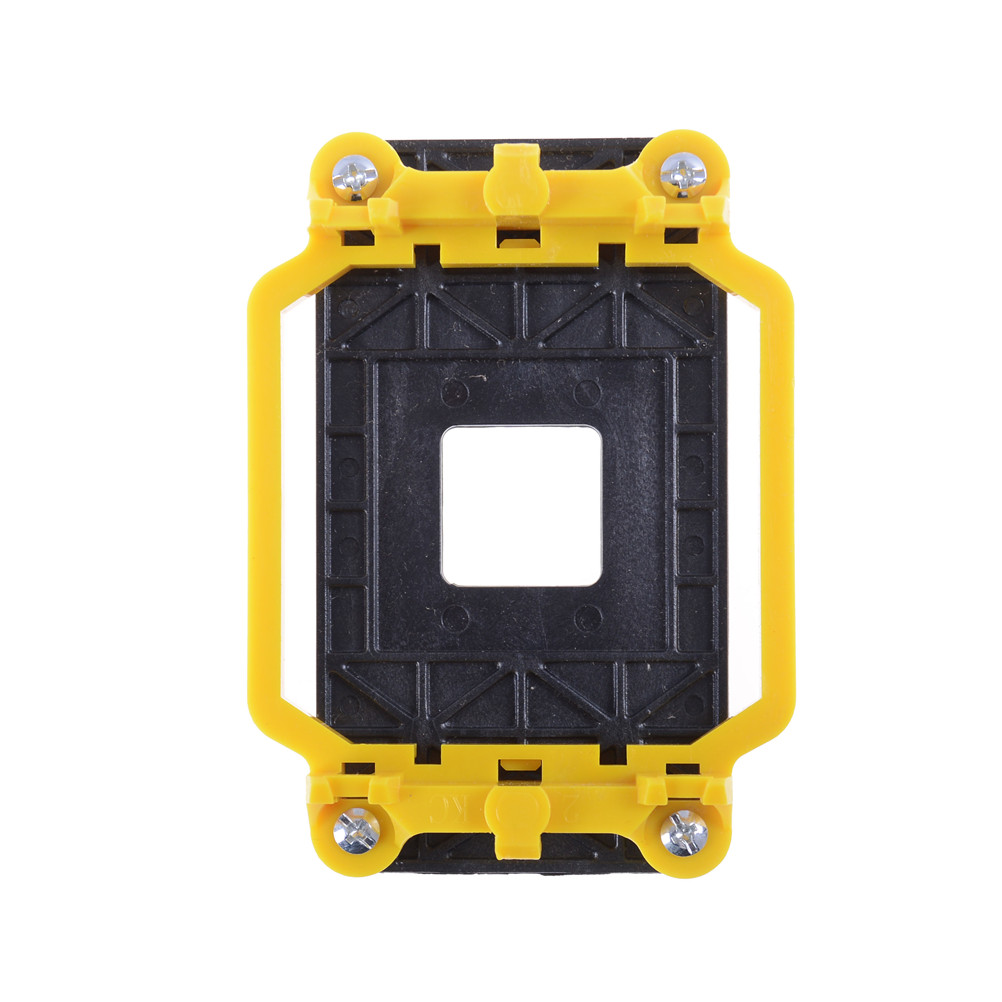 1pcs durable yellow and black <font><b>CPU</b></font> Fan Cooler Cooling Retainer Retention Base Bracket For AMD <font><b>Socket</b></font> AM3+ AM2+ AM2 <font><b>940</b></font> image