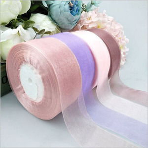 4cm/2cm x 45m Solid Color Organza Tulle Ribbons Roll Gift Wrapping Packing DIY Organza Tape Party Christmas Ribbons Decoration(China)