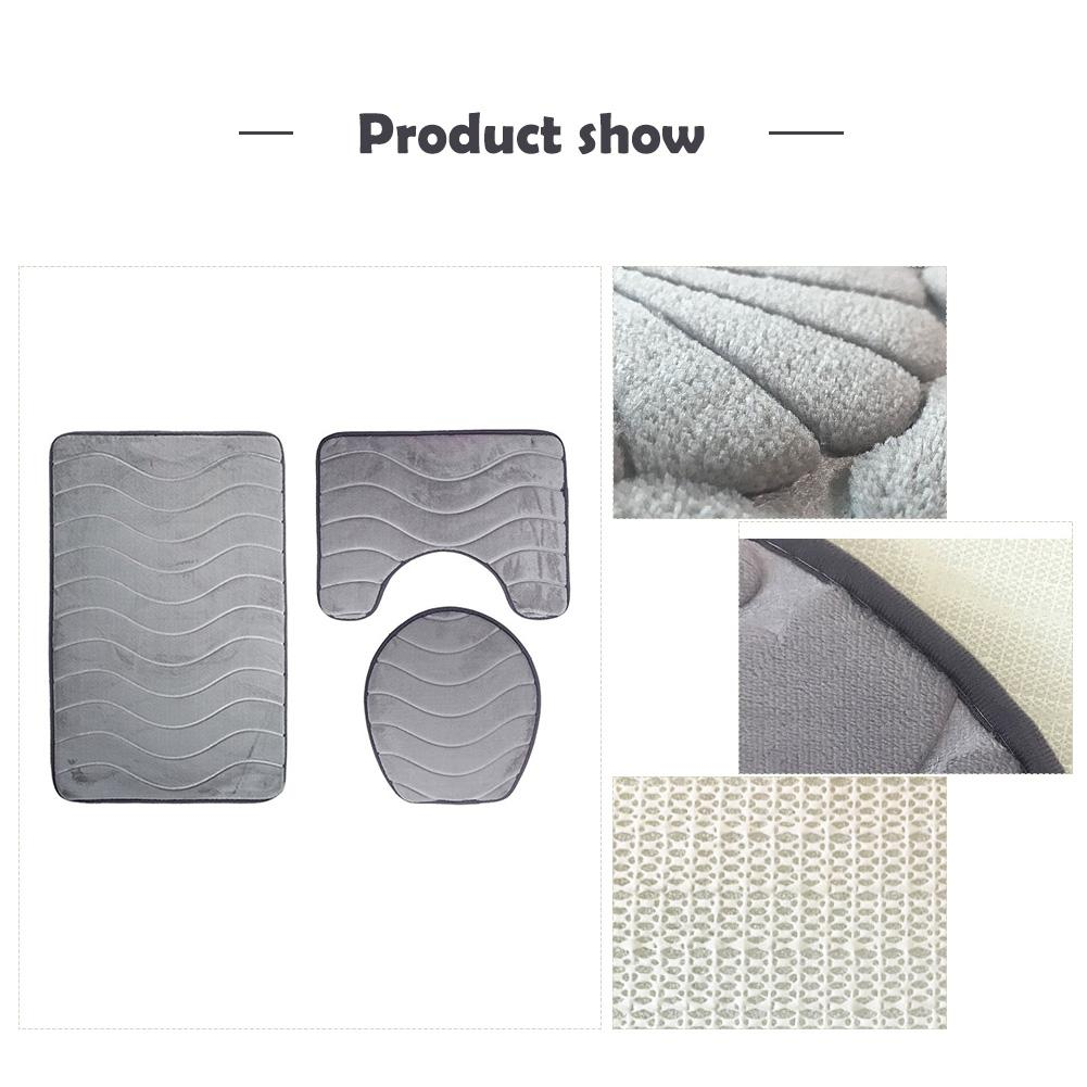 Fantastic Us 11 57 34 Off 3 Pcs Set Flannel 3D Pressed Flower Toilet Pad Toilet Seat Bathroom Non Slip Carpet Set In Bathroom Accessories Sets From Home Caraccident5 Cool Chair Designs And Ideas Caraccident5Info
