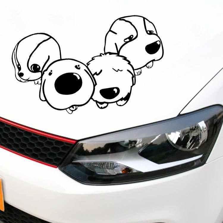 Aliautoรถจัดแต่งทรงผมการ์ตูนสุนัขตลกรถสติกเกอร์รูปลอกสำหรับครูซฟอร์ดเฟียสต้าVW G Olfโปโลสมาร์ทfortwo kiaเปอโยต์307