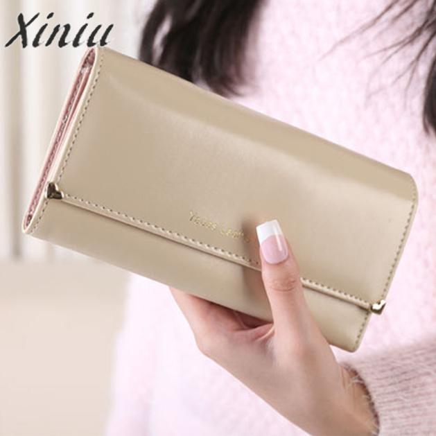 2018 г. женские кошельки Длинные Портмоне кожаный бумажник держатель кредитной карты подарок бумажник carteira feminina #5