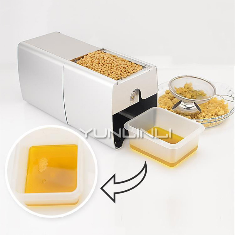 Automatic Oil Press Machine Cold Hot Mini Olive Peanut Oil Soybean Presser Expeller With English Manual Home Oil Extractor HF-04 220v mini oil press machine olive peanut oil pressing presser household oil extraction machine hf 04