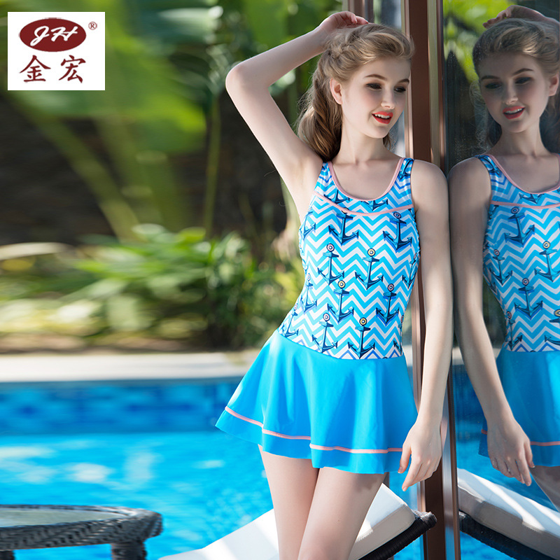 new swimsuit swimsuit Navy boxer underwear lady  skirt suit  direct page swimsuit sw0670 navy mult