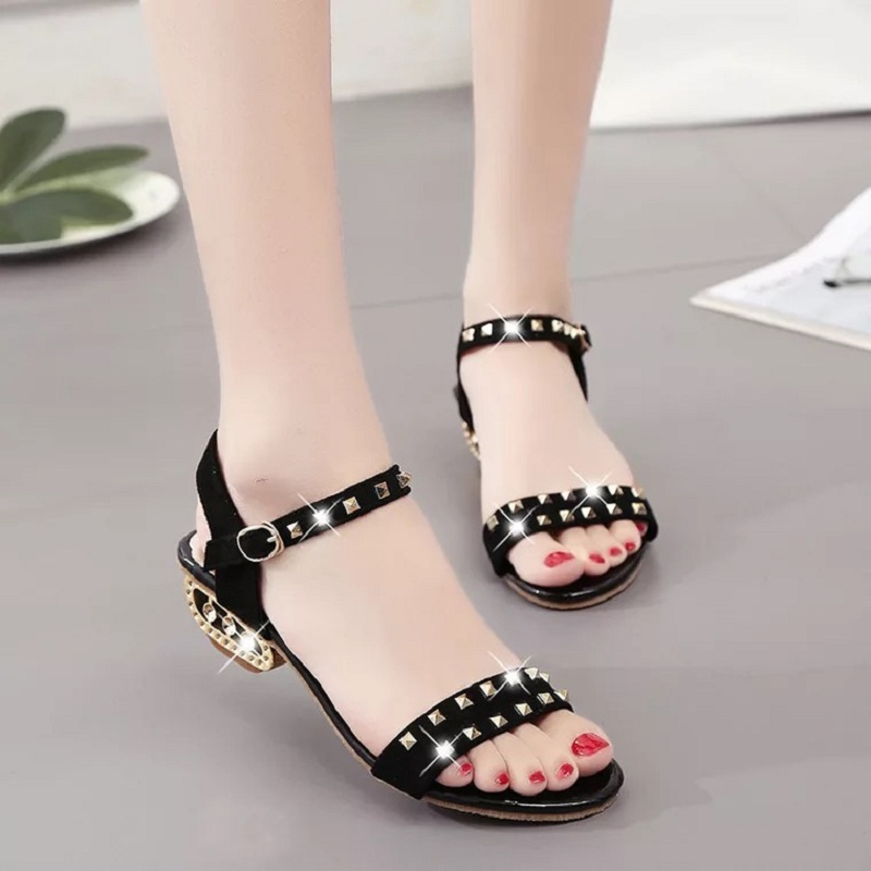 Summer Women Sandals Open Toe shoes Womens Sandles Square heel Women Shoes Korean Style Gladiator Shoes Women High Heel Shoes