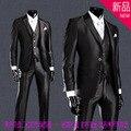Ferramental terno Fino terno terno de negócio dos homens versão Coreana do noivo padrinho de casamento vestido de casamento de três-terno pedaço