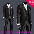 Los hombres de traje Delgado traje de herramientas de negocios versión Coreana del novio del padrino de boda vestido de traje de tres piezas