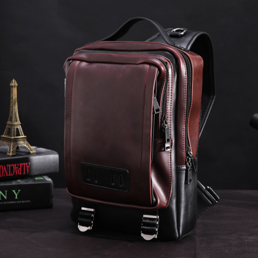 11 12 Inch PU Laptop Notebook Shoulder Backpack Bags Case for Men Women BUsiness