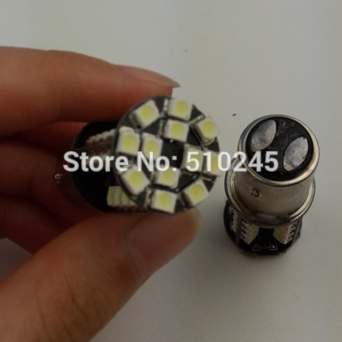 30x 1157 BAY15D 44 SMD Red CANBUS OBC No Error Signal P21/5W Car 3528smd 44 LED Light Bulb free shipping