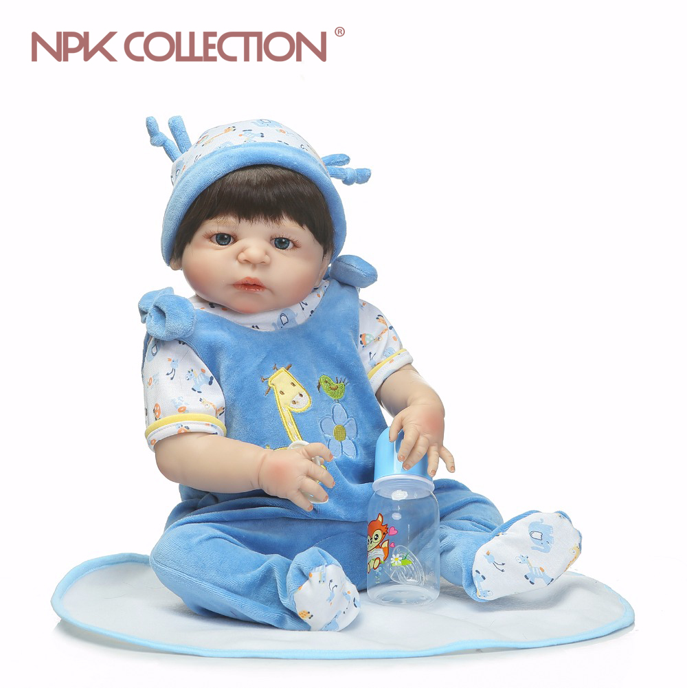 цена NPKCOLLECTION Full Body SIlicone Girl Reborn Babies Doll Bath Toy Lifelike Newborn Princess Baby Doll Bonecas Bebe Reborn Menina онлайн в 2017 году