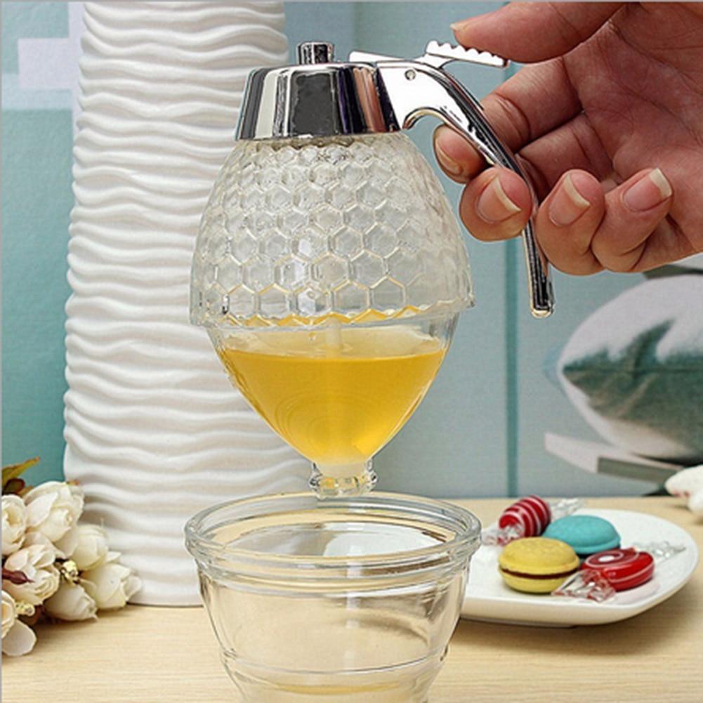 Practical 200ML Acrylic Juice Honey Dispenser Container Kettle Kitchenware Storage Pot Honey Dispenser Dolce Gusto Cocina Gadget