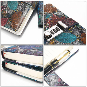 Image 3 - New A5 Leather Diary Notebook with Lock code 140 sheets paper notepad note book  Office school supplies Gift