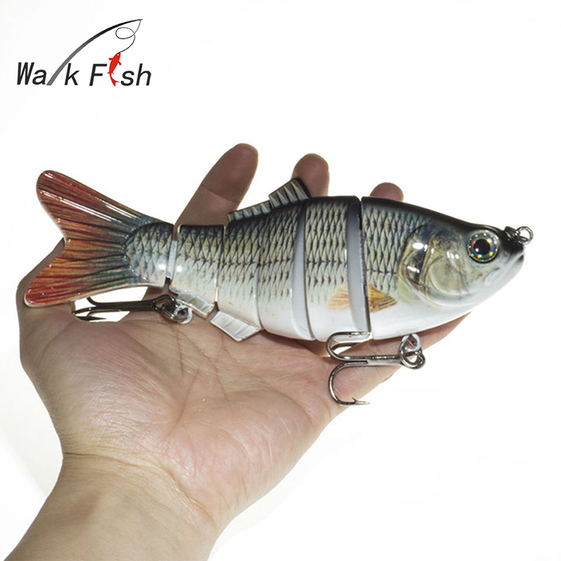 WALK FISH 1Pcs Fishing Lure 20cm 110g Treble Hooks 6 Jointed Sections Swimbait Hard Bait Isca Artificial Lures Fishing Tackle high quality fishing lure fish bait 6 section jointed vib lure 10cm 17g wobbler vibration bait swimbait fishing tackle