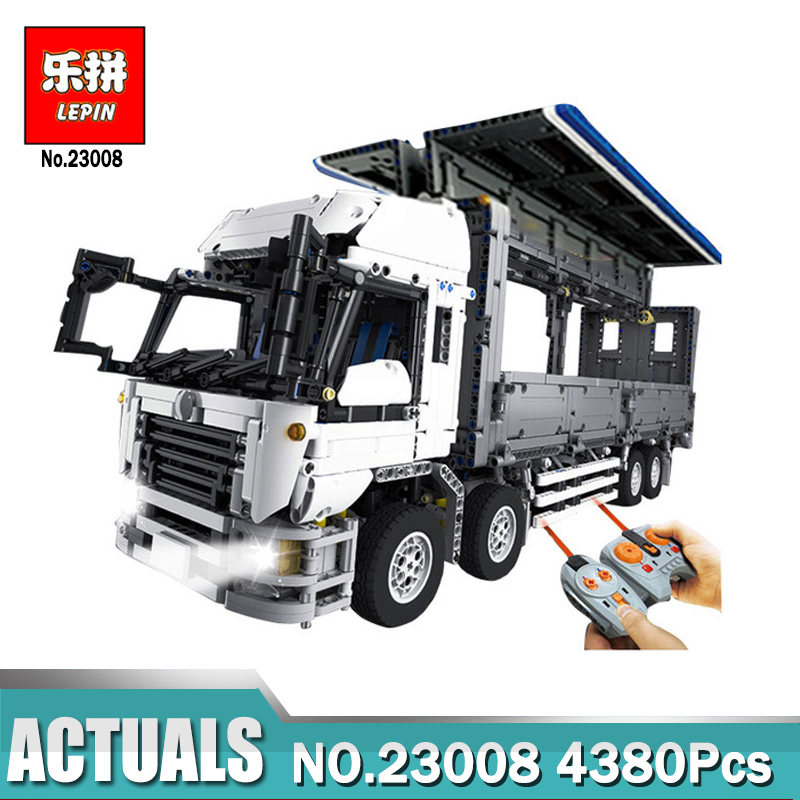 Lepin 23008 4380Pcs Technic Wing Body Truck 1389 Lepin Technical MOC Series Building Block Bricks Toys for Children Gift 2017 enlighten city series garbage truck car building block sets bricks toys gift for children compatible with lepin