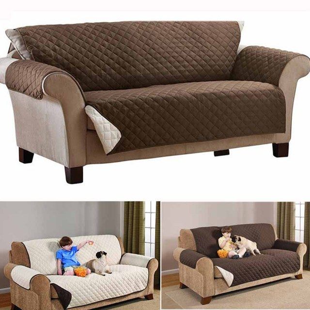 Double Side Sofa Cushion Pets Dogs Covers Waterproof Removable Couch Recliner Slipcovers Furniture Protector Customized