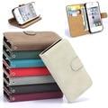 Para iphone 4 casos de alta calidad de la manera de la pu funda de cuero para apple iphone 4 4s titular de la tarjeta monedero cubierta del teléfono del bolso duro de nuevo caso