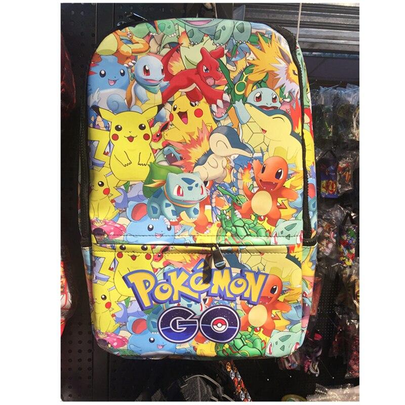 Japonais bande dessinée Pikachu Pokemon sac à dos nouvelle Anime poche monstre Gengar Cosplay école sac à dos en cuir PU sac à dos bolsa feminin