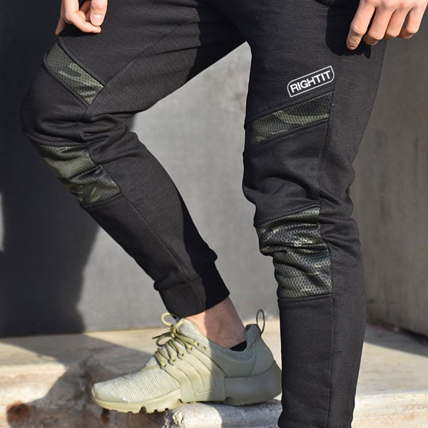 NEW 2019 Spring Autumn camouflage Patchwork Cotton stretch Combat Beam foot sweatpants men Muscle Fitness Army Cargo trousers in Harem Pants from Men 39 s Clothing