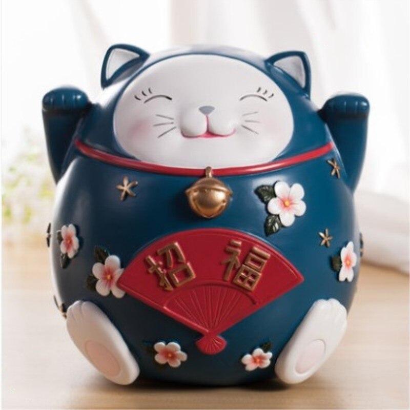 Lucky Cat Ornaments Piggy bank Coin change piggy bank Adult children cartoon Creative birthday gift