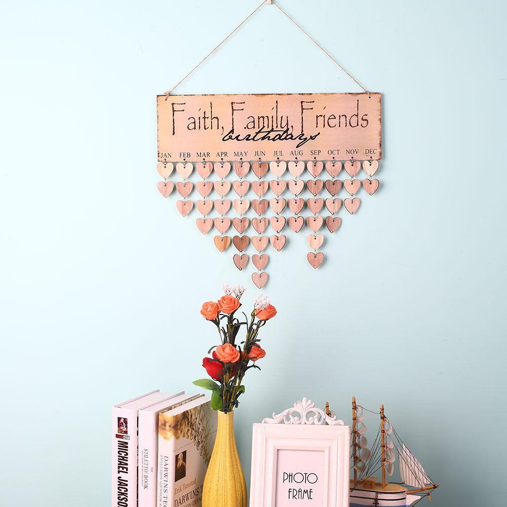 Hanging Calendars Calendar Pendant Creative Woody Faith Family Friends  Craft Home Decoration Gift Wall Decor In Wind Chimes U0026 Hanging Decorations  From Home ...
