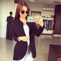 Mulheres Lady Outwear alta qualidade moda charme 2016 design elegante Sexy de manga comprida Cardigan casaco jaqueta A417