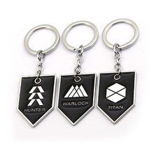 Julies Game Keychain Destiny Warlock Titan Hunter Metal Keyring Holder Dog Tag Pendant Chaveiro Men Jewelry llaveros JJ12959 game metro 2033 keychain letter metro exodus skull dog tag pendant key chain for men car keyring llaveros jewelry