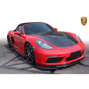 Carbon Fiber Body Kits Set For Cayman Boxster 718 Body Kits Carbon Front Rear Lip Side Skirts Diffuser Car Accessories