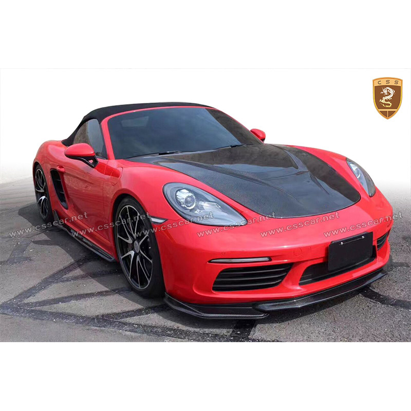 Carbon Fiber Body Kits Set For Cayman <font><b>Boxster</b></font> <font><b>718</b></font> Body Kits Carbon Front Rear Lip Side Skirts Diffuser Car Accessories image