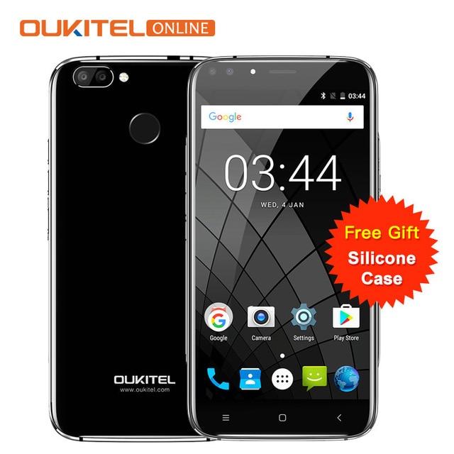 """Оригинальный Oukitel U22 Смартфон Android 7.0 5.5 """"четыре Камера 8.0MP + 5MP 16 ГБ Встроенная память 2700 мАч 4 ядра MTK6580 отпечатков пальцев телефона"""