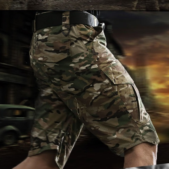 Summer Militar Waterproof Tactical Cargo Shorts Men Teflon Camouflage Army Military Motion Men Casual Hike Shorts 1