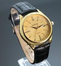 Chaude 2017 Marque Date Montres Hommes Femmes Mode Casual Quartz Montre En Cuir D'affaires Montre-Bracelet Horloge 1201610073