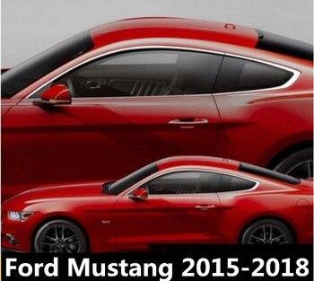 Di alta Qualità IN ACCIAIO INOX AUTO DECORAZIONE FULL FINESTRA a STRISCE TRIM COPERTURA FIT PER Ford Mustang 2015 2016 2017 2018