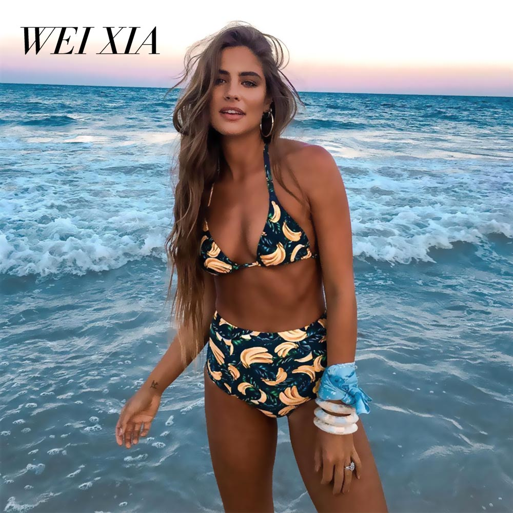 WEIXIA 2018 NEW Arrival Beautiful Show Women Bikini 8013 Two Piece Swimwear Swimsuit Brazilian Beach Wear