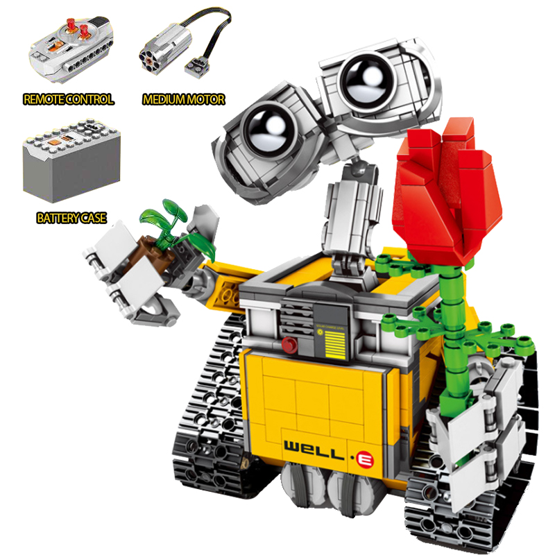 레고 테크닉 블록에 적합 WALL E 로봇 로즈 원격 제어 rc 853 pcs 빌딩 블록 어린이를위한 장난감 조립 기술-에서블록부터 완구 & 취미 의  그룹 1