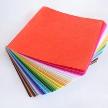 40 шт 15x15 см полиэфирная Нетканая войлочная ткань DIY войлочная Ремесленная ткань фетровая ткань игрушки ткани ручной войлочный материал