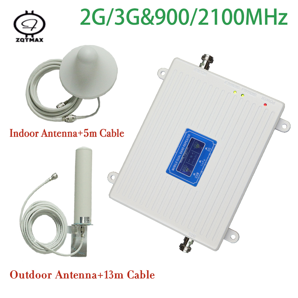 Repeater GSM 900 2100 Dual Band  2g 3g Booster WCDMA 2100MHz  900mhz  W-CDMA Cell Phone Signal  Amplifier